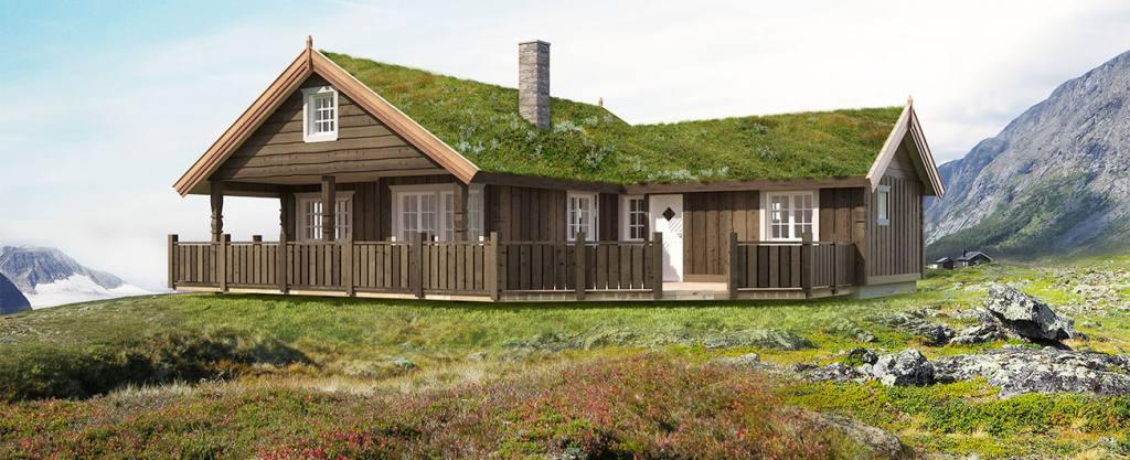 Bilde av hytten